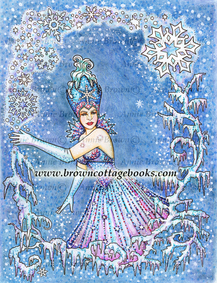 Frozen Fantasy Coloring By Annie Brown Brown Cottage Books